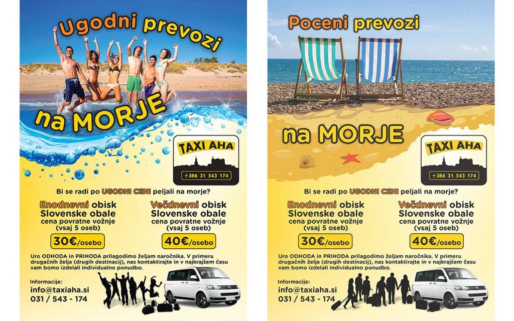 Taxi-AHA Ugodni prevozi na morje